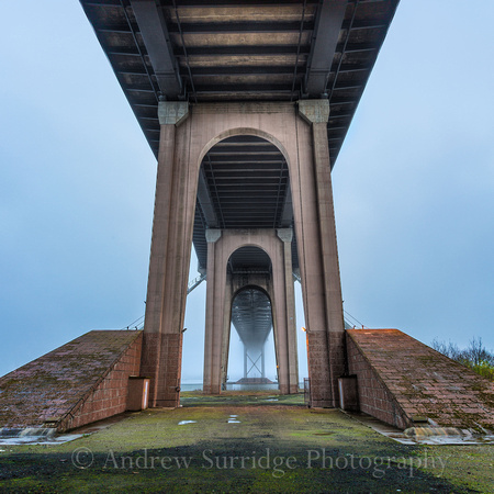Under the Forth Road Bridge